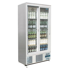 Polar Double Sliding Door Upright Back Bar Cooler CK478-A - OzCoolers