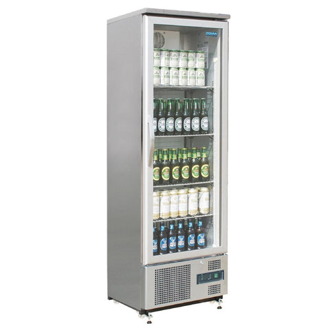 Polar Single Hinged Door Upright Back Bar Cooler CK479-A - OzCoolers