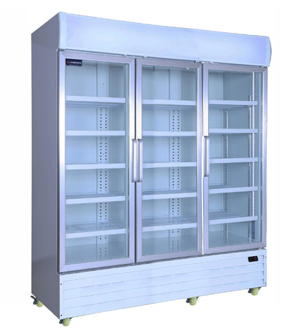 Crusader 3 Glass Door Display Fridge 1500Ltr (White) - CCE1630