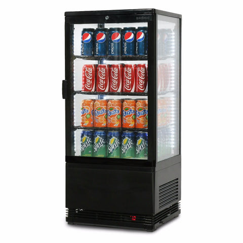 Bromic Flat Glass 78L LED Countertop Beverage Chiller - CT0080G4B