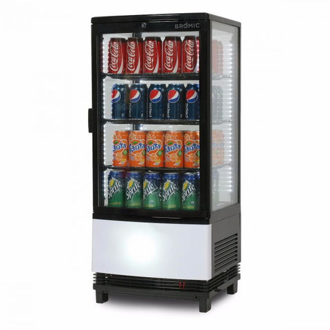 Bromic Curved Glass 80L LED Countertop Beverage Chiller - CT0080G4BC - OzCoolers