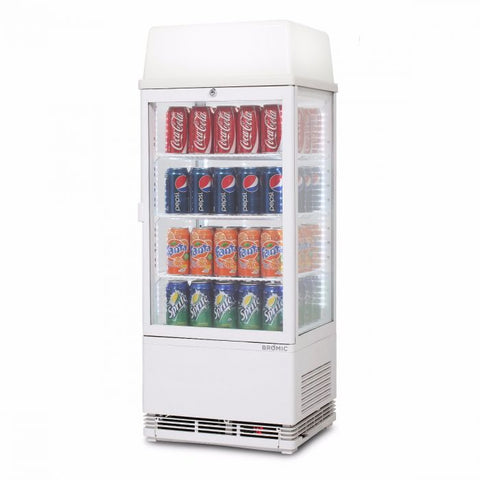 Bromic Flat Glass 78L LED with Lightbox Countertop Beverage Chiller - CT0080G4LW - OzCoolers