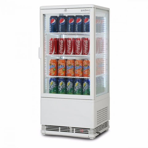 Bromic Flat Glass 78L LED Countertop Beverage Chiller - CT0080G4W - OzCoolers