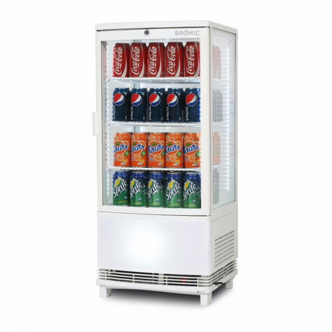 Bromic Curved Glass 80L LED Countertop Beverage Chiller- CT0080G4WC - OzCoolers