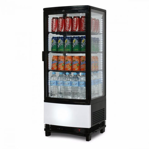 Bromic Curved Glass 98L LED Countertop Beverage Chiller - CT0100G4BC - OzCoolers