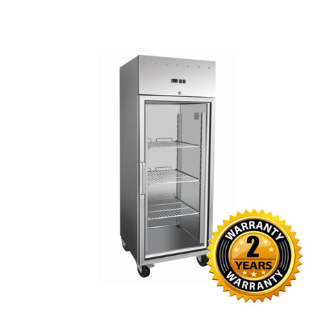 Exquisite One Door Stainless Steel Upright Chiller Glass Door - GSC650G