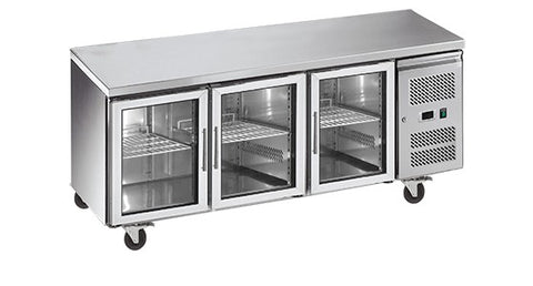 Exquisite Snack Size Under Bench Chiller Glass Doors - SSC550G