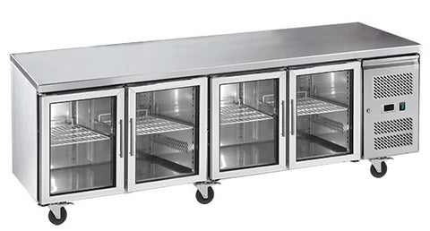 Exquisite Four Glass Door Underbench Fridge - USC550G