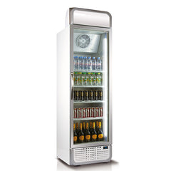 Husky 394L Vertical Glass Door Fridge (White) C5PRO-H-C-WE-AU-HU