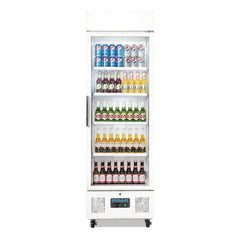 Polar Upright Display Fridge 368Ltr White DM076-A - OzCoolers
