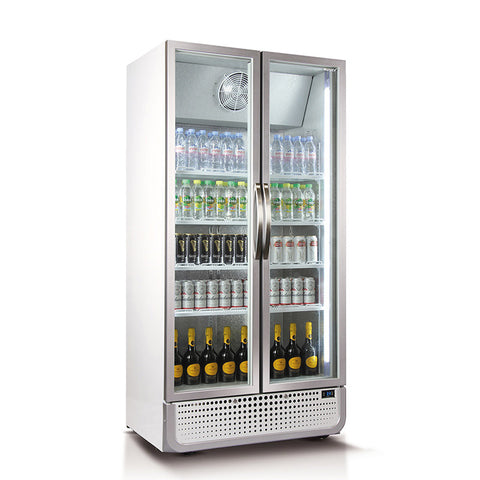728L Vertical Glass Door Fridge (White) - OzCoolers