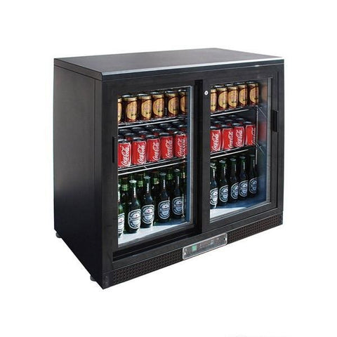 FED Double Sliding Door Drink Cooler - SC248SD - OzCoolers