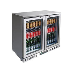 FED Two Door Stainless Steel Drink Cooler SC248SG - OzCoolers
