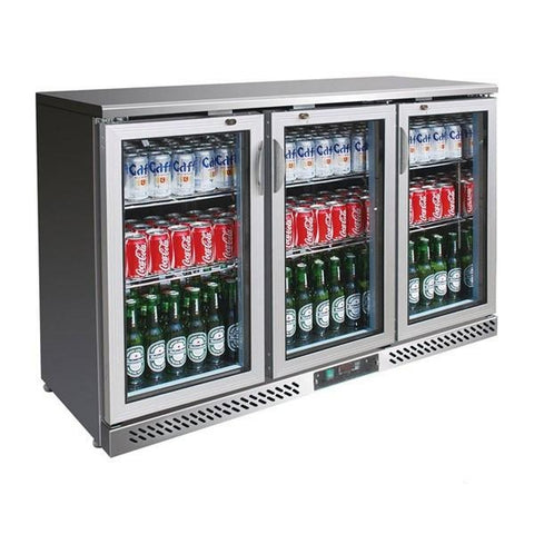 FED Three Door Stainless Steel Drink Cooler SC316SG - OzCoolers