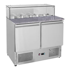 FED Two Door Salad Marble Prep Top - GNS900E - OzCoolers
