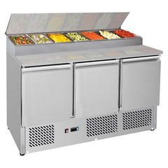 FED Three Door Compact Salad Prep Top - GNS1300D - OzCoolers