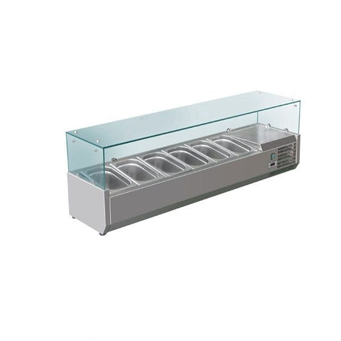 FED-X Flat Glass Salad Bench - XVRX1500/380