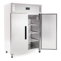 Polar 2 Door Upright Freezer 1200Ltr Stainless Steel DL896-A - OzCoolers
