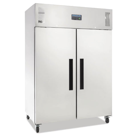 Polar 2 Door Upright Fridge 1200Ltr Stainless Steel - DL895-A