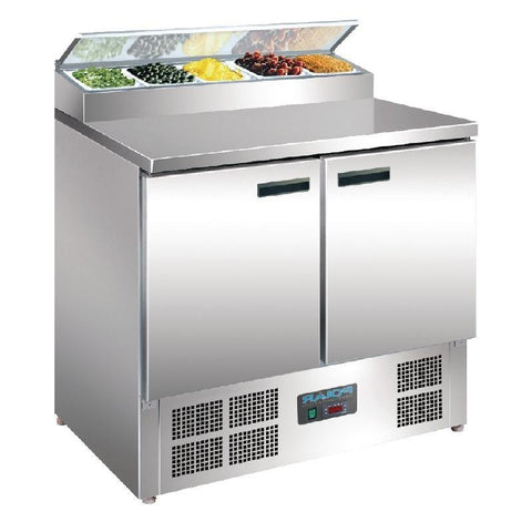 Polar 2 Door Salad and Pizza Prep Counter Stainless Steel G604-A - OzCoolers