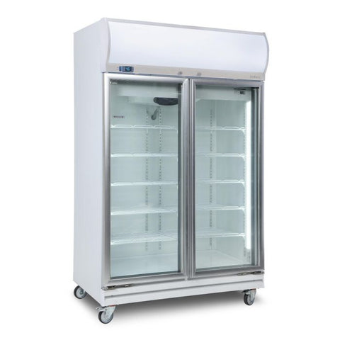 Bromic Flat Glass Door 976L LED Upright Display Chiller - GD1000LF - OzCoolers