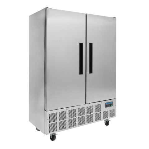 Polar Double Door Slimline Fridge Stainless Steel 960Ltr - GD879-A - OzCoolers