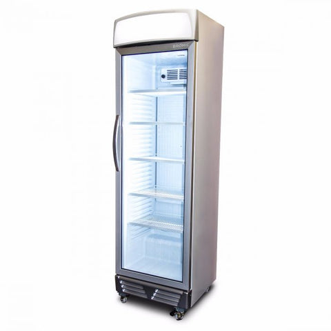 Bromic LED ECO Flat Glass Door 372L Upright Display Chiller with Lightbox - GM0374L - OzCoolers