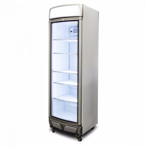 Bromic LED Curved Glass Door 380L Upright Display Chiller with Lightbox - GM0400LC - OzCoolers