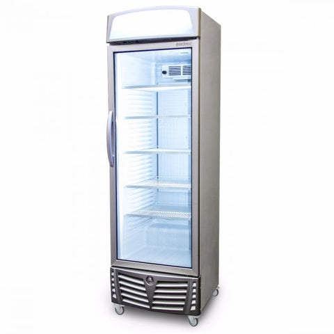 Bromic LED Flat Glass Door 438L Upright Display Chiller with Lightbox - GM0440L - OzCoolers