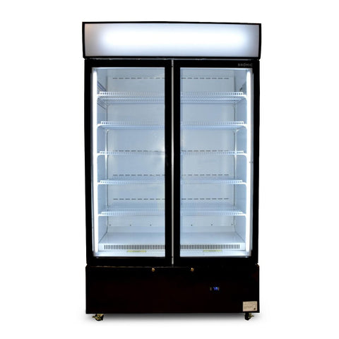 Bromic Cassette Flat Glass Door LED Display Chiller Black - GM1000LCASB