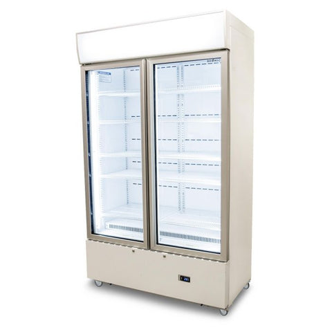 Bromic Cassette Flat Glass Door LED Display Chiller White - GM1000LCAS - OzCoolers