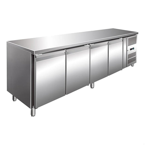 FED TROPICALISED 4 Door Gastronorm Bench Fridge - GN4100TN