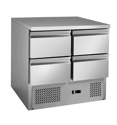 FED 4 drawers S/S benchtop fridge - GNS900-4D