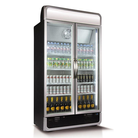 Husky 885L Vertical Glass Door Fridge (Black)  C10PRO-H-BLK-AU-HU
