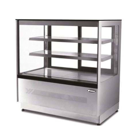 Atosa Upright Square Cake Showcase 1200mm - DF127F - OzCoolers
