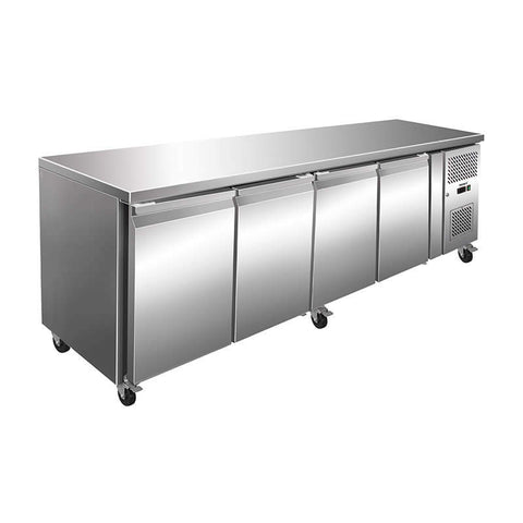 Husky 476L Four Door Prep-Counter Fridge CPUC4-AU-AL - OzCoolers