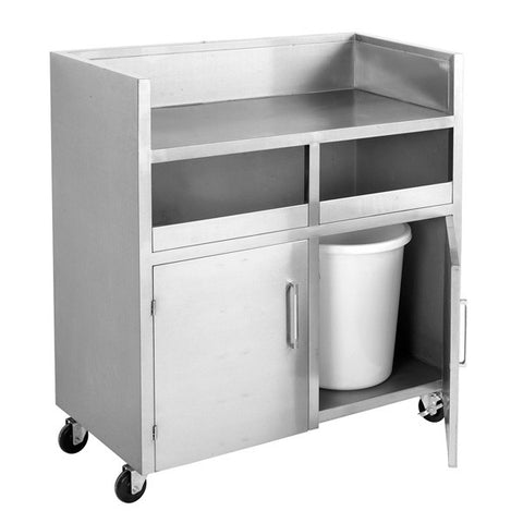 FED Stainless Steel Double Bin Mobile Station - MBS118