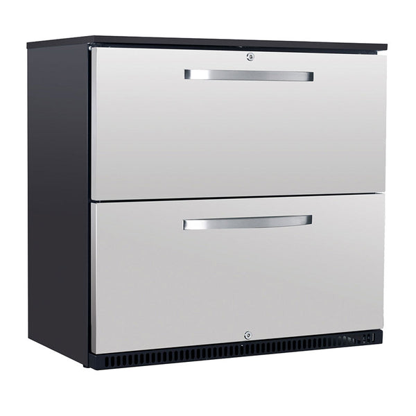 Husky Double Drawer Stainless Steel Refrigerator C2 Dwr