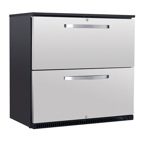 Husky Double Drawer Stainless Steel Refrigerator C2-DWR-840-AU-HU - OzCoolers