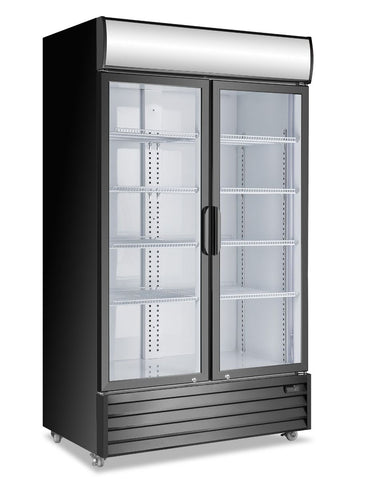 Atosa Double Glass Door Mounted Refrigerator - P1000WB-A