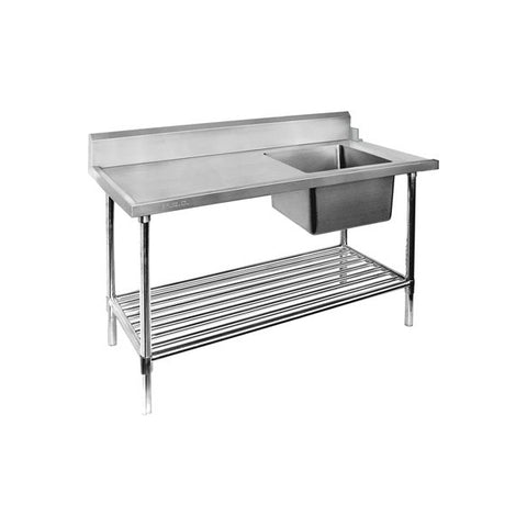 FED Right Inlet Single Sink Dishwasher Bench - SSBD7-1500R/A