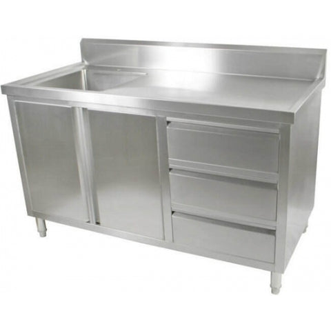 FED Kitchen Tidy Cabinet With Left Sink - SC-7-1500L-H