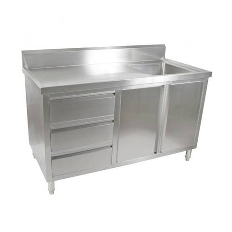 FED Kitchen Tidy Cabinet With Right Sink - SC-7-1500R-H