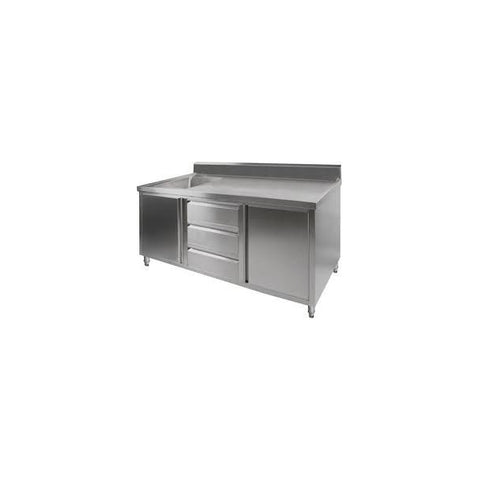 FED Kitchen Tidy Cabinet With Left Sink - SC-7-2100L-H