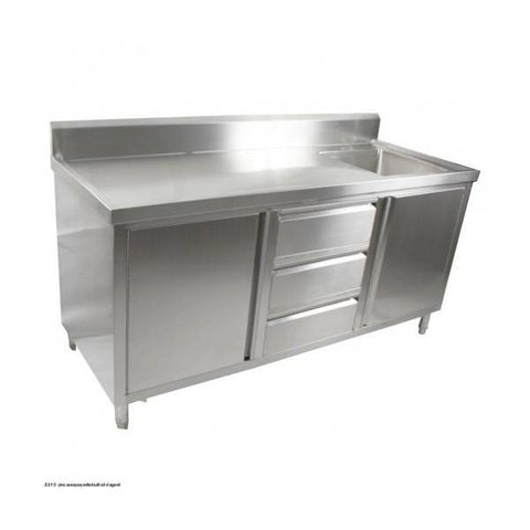 FED Kitchen Tidy Cabinet With Right Sink - SC-7-2100R-H