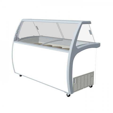 Exquisite Ice Cream Display with Glass Canopy - SD575S2