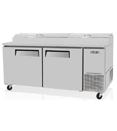 SKIPIO Pizza Prep Table 2 Doors Air Over Pans - CTPR-67SD