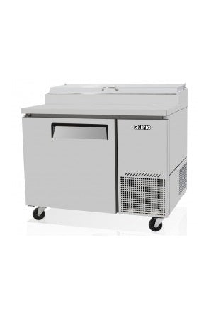 SKIPIO Pizza Prep Table 1 Door Air Over Pans - CTPR-44SD