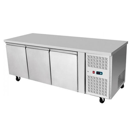 Atosa Stainless Steel 3 Solid Doors Undercounter Bench Fridge 450L - EPF3432