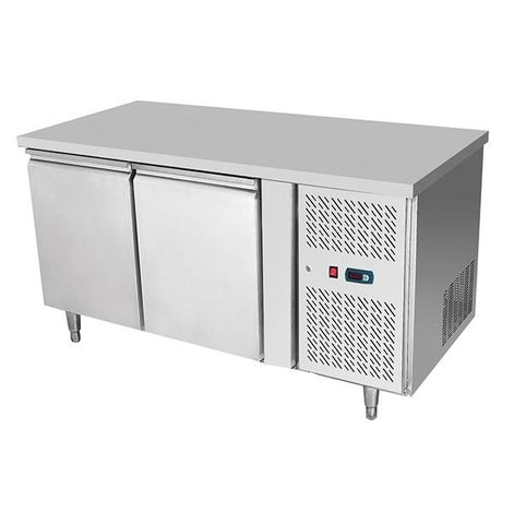 Atosa Stainless Steel 2 Solid Doors Undercounter Bench Fridge - EPF3422